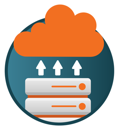 Graphic icon for cloud data