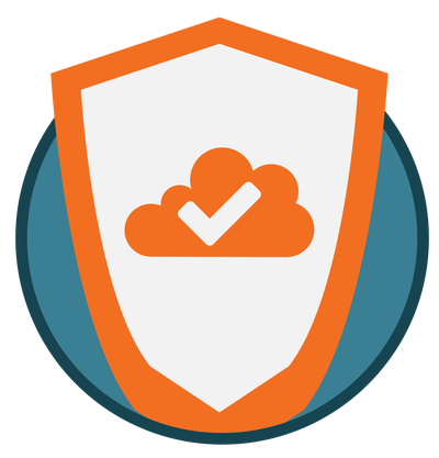 Graphic icon for cyber security