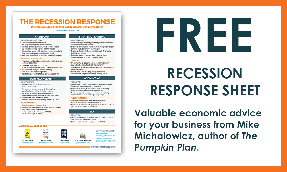 Recession Response Sheet Call to Action