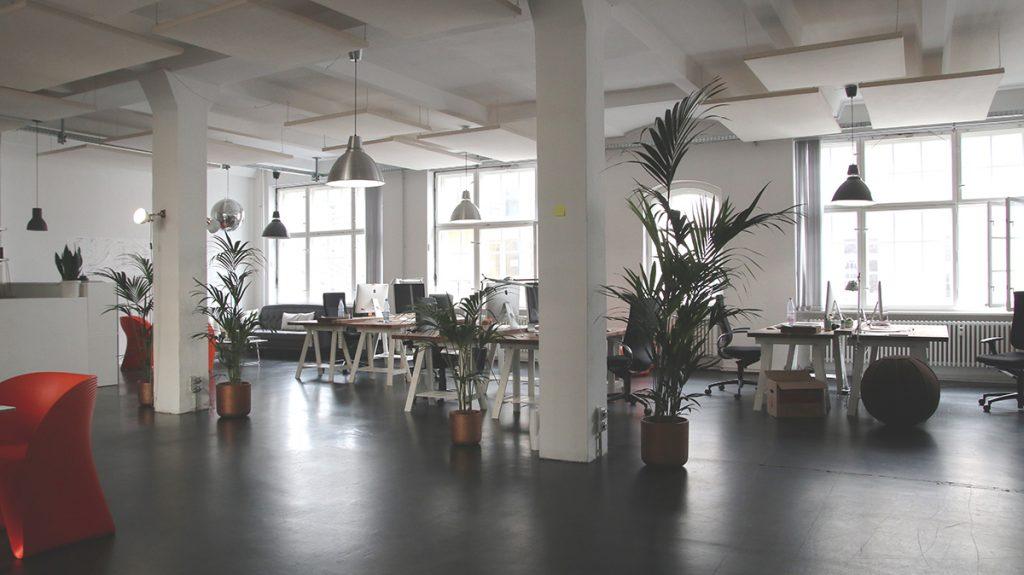 A modern open office space