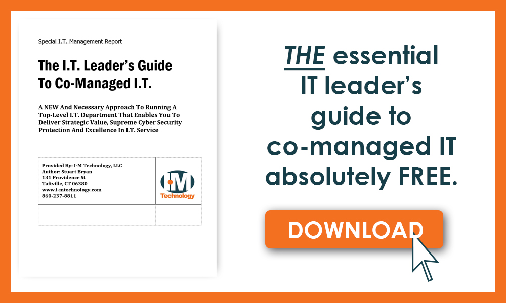 Call to action for a free eBook for IT leaders